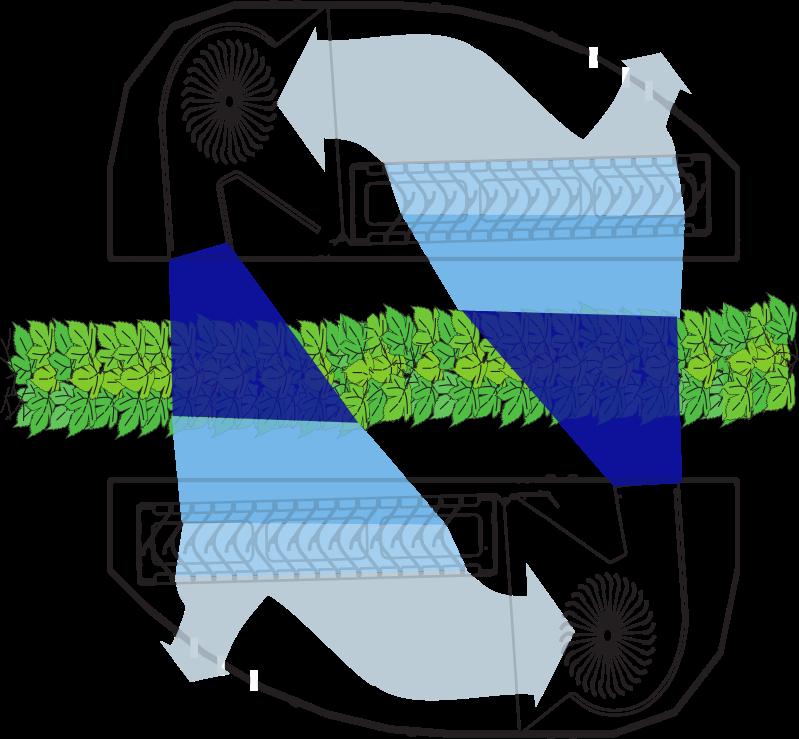 Rappresentazione schematica recupero e ricircolo aria Atomizzatore BACCO favaro