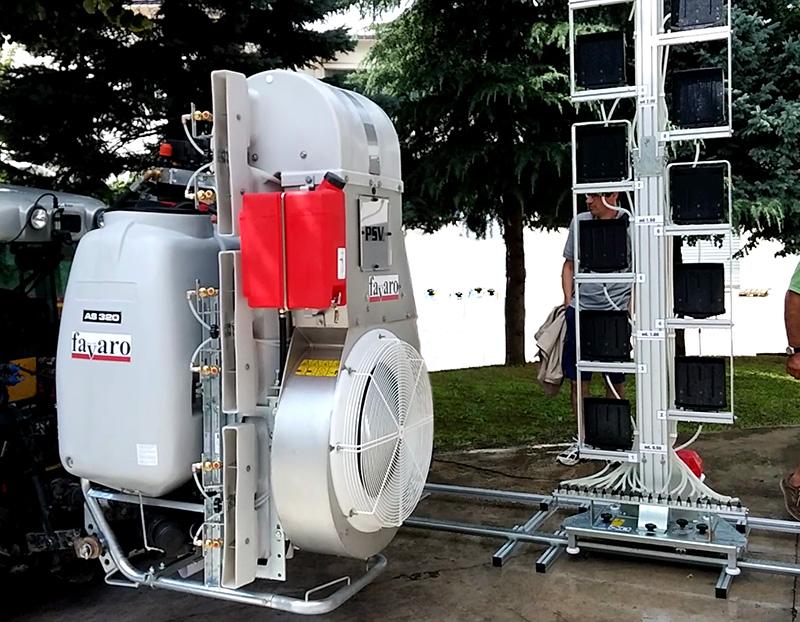Atomizzatore Favaro PSV presso dimostrazione controllo funzionale